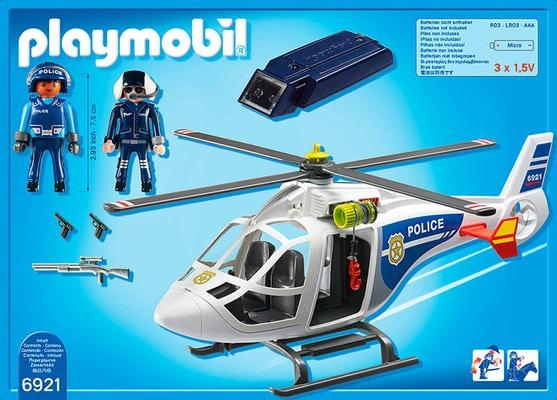 PLAYMOBIL City Action Hélicoptère de police avec projecteur de recherche int. 6921