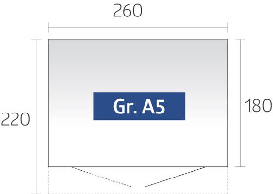Biohort Gerätehaus AvantGarde A5, Doppeltüre