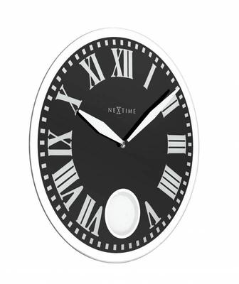 NexTime Horloge murale Romana noir diam Horologe murale
