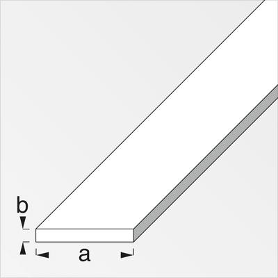 alfer Barra piatta 20 x 4 mm acciaio laminato 2 m