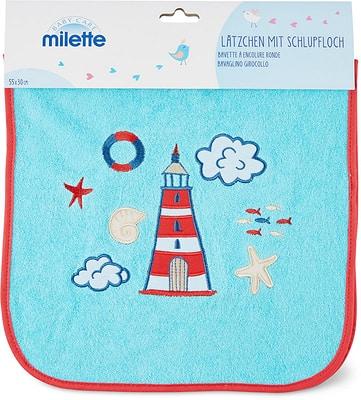 Milette Bavette à encolure ronde, 55 x 30 cm
