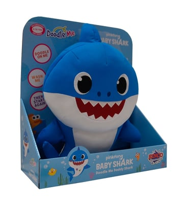 Baby Shark Plüsch zum bemalen Funktionsplüsch