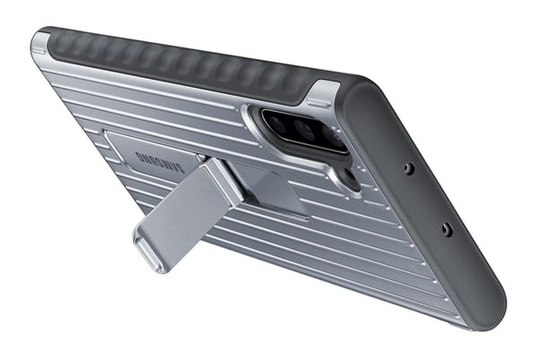 Samsung Protective Standing Cover silver Hülle