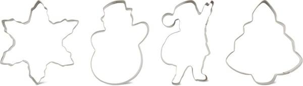 Cucina & Tavola Geschenkset Ausstecher 4 Stück