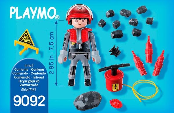 Playmobil Special Plus Minatore con esplosione di rocce 9092