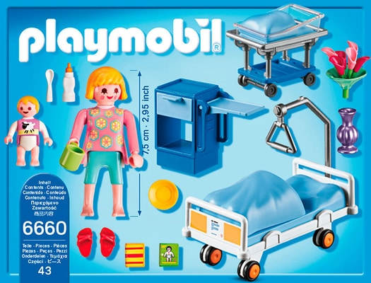 PLAYMOBIL City Life Chambre de maternité 6660