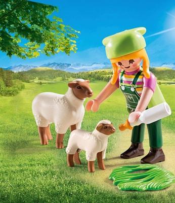 Playmobil Fermière avec moutons