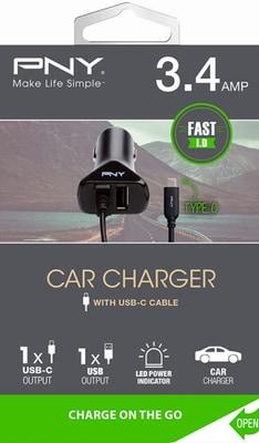 PNY Technologies Car Charger USB-C/USB-A