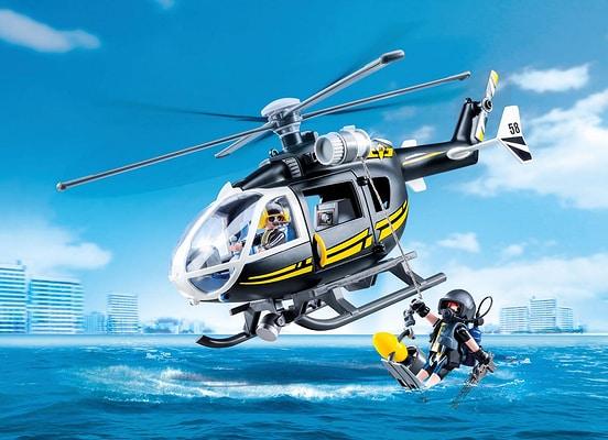 Playmobil Elicottero Unità Speciale con sommozzatore