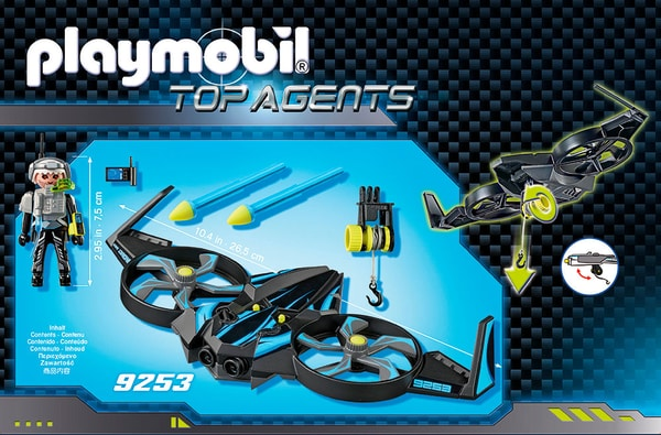 Playmobil Top Agent Mega Drone con Sergente K 9253