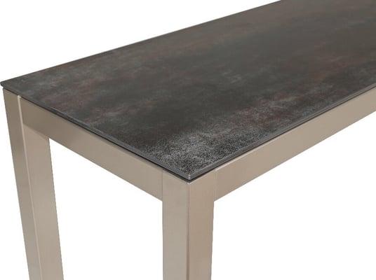 LOCARNO, Gestell Polar Silber, Platte Keramik Gartenbank