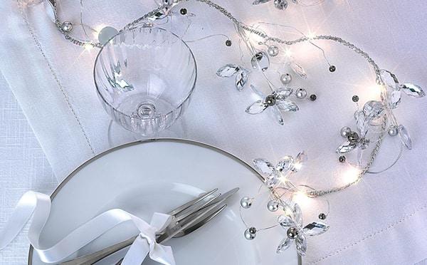 Cucina & Tavola Ghirlanda luminosa per la tavola 160cm