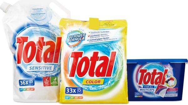 Tous les produits de lessive Total