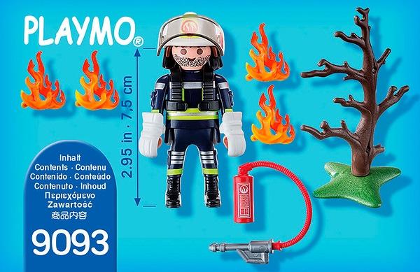 Playmobil Special Plus Pompier avec arbre en feu 9093