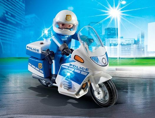 City Action Moto de policier avec gyrophare int. 6923