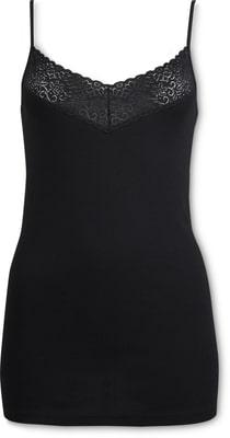 Top con merletto donna nero