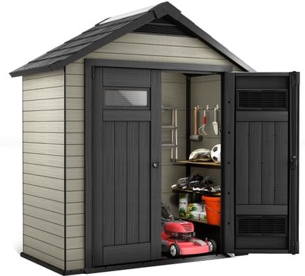 gartenhaus aus wpc 754 migipedia. Black Bedroom Furniture Sets. Home Design Ideas