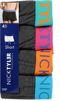 MEN S SHORT 4ER PACK grau