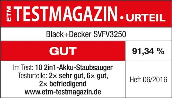 Black&Decker 2 in 1 SVFV3250LR Akku-Besenstaubsauger