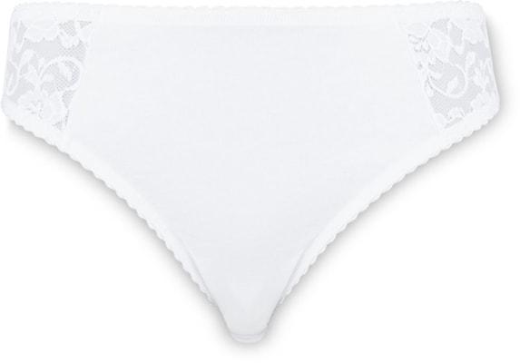 Slip Mini donna con merletto bianco