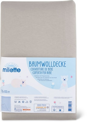 Milette Couverture de bébé, 70 x 100 cm