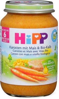 Hipp carotte mais veau