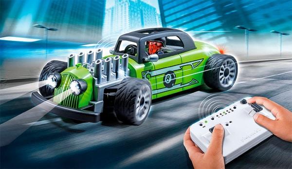 Playmobil Action Voiture de course verte radiocommandée 9091