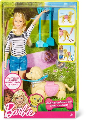 Barbie Hundespaziergang Barbie & Hündchen