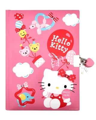 Hello Kitty Tagebuch mit Schloss + Licht Malen