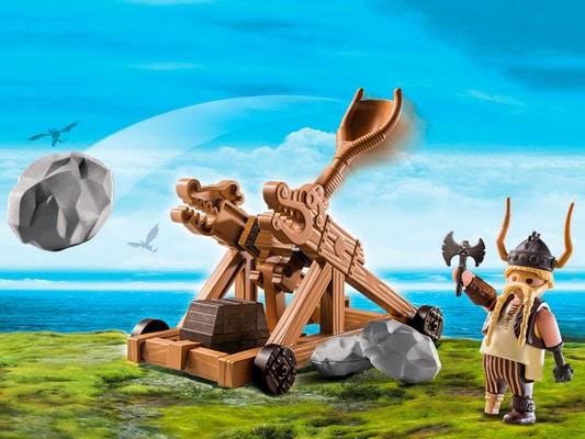 Playmobil Dragons Gueulfor avec catapulte 9245
