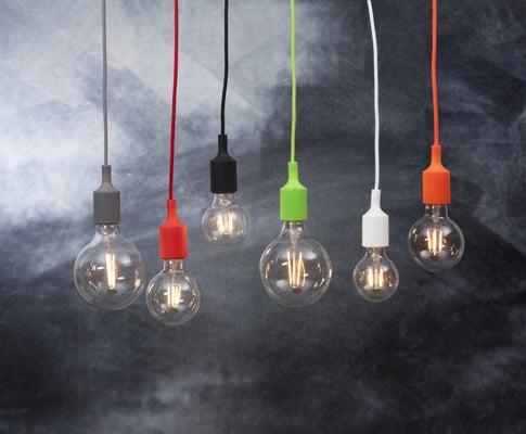 Star Trading Câble de lampe avec douille noir