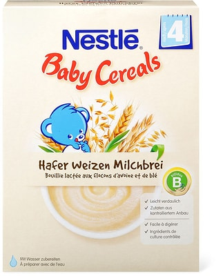 Nestlé Baby Cereals Bouillie lactée aux flocons d'avoine et de blé