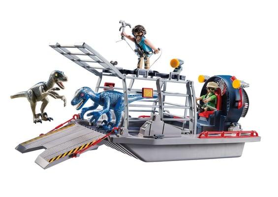 Playmobil Propellerboot mit Dinokäfig 9433