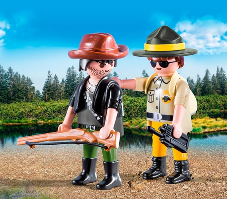Playmobil Duo Packs Garde forestier et braconnier 9217