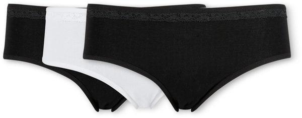 Damen Slip Mini 3er Pack schwarz