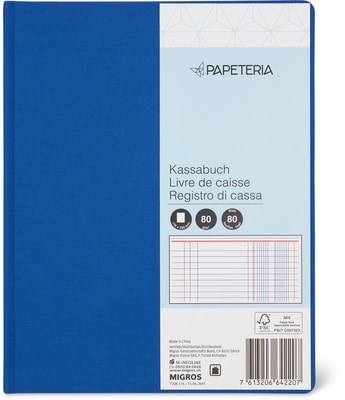 Papeteria Kassabuch 80 Blatt