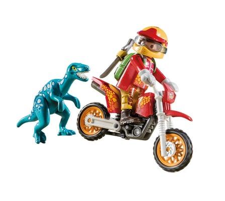 Playmobil Motocross-Bike mit Raptor