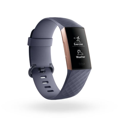 Fitbit Charge 3 Rose Gold/Blue Gray Activity Tracker