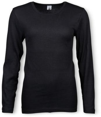 Shirt Thermo à manches longues pour femme noir