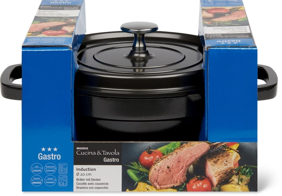 Cucina & Tavola GASTRO Bräter mit Deckel 20cm