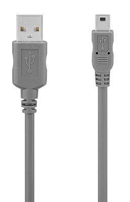 Daymond Mini-USB 2.0  1.8m grau Kabel