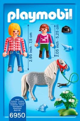 PLAYMOBIL Country Cavalière avec soigneur et poney 6950