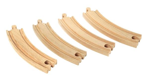 Brio 1/1 gebogene Gleise 170mm (FSC®) Bahn