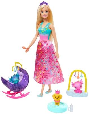 Barbie GJK51 Dreamtopia Honey&Bab Set di bambole