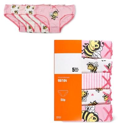 Mädchen Slip 5er Pack rosa