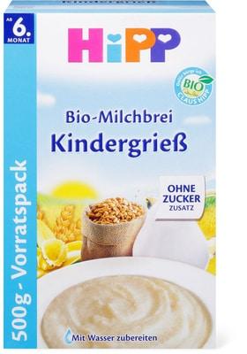 HiPP Bouillie au lait et à la semoule pour enfant