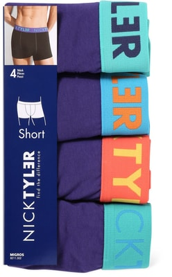 MEN S SHORT 4ER PACK blau