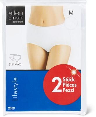Slip maxi femme lot de 2 blanc