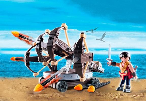 Playmobil Dragons Eret et baliste à 4 projectiles de feu 9249