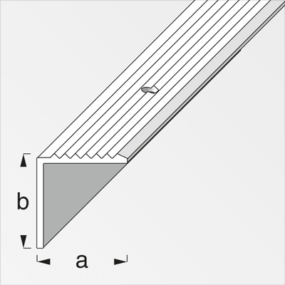 alfer Profilo per scale 19 x 20mm allu ottonato